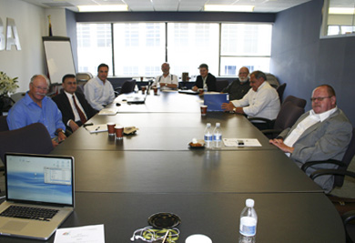 IHCO Board members at the meeting held at Washington's NCBA headquaters