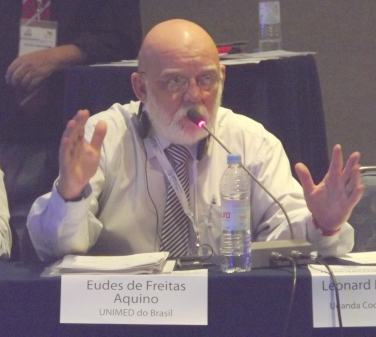 IHCO's vicepresident Dr. Eudes Aquino speaks at the conference